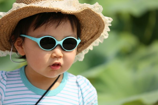 Girl wearing sunglasses and a hat