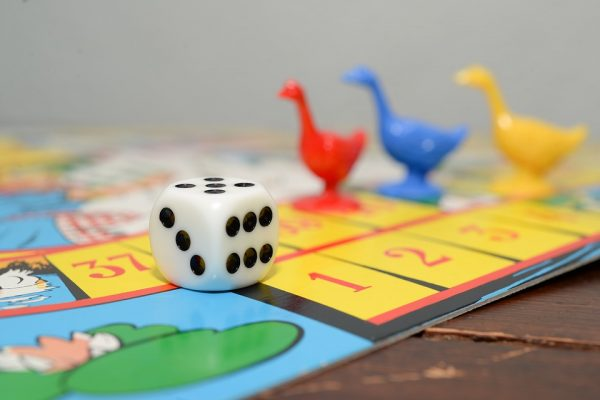 Pieces on a board game