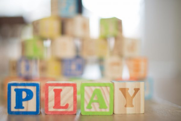 wooden building blocks spelling play